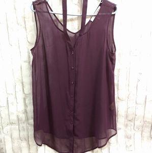 Bianca Nygard Sheer Purple Top